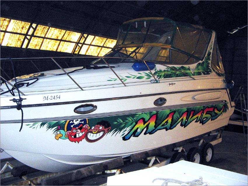 наклейка флаг на лодку